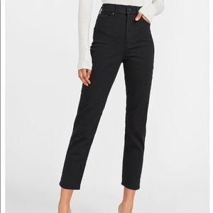 NWOT Express Super High Waisted Black Mom Jeans